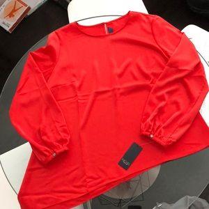NWT Rachel Rachel Roy Asymetrical Blouse - Red